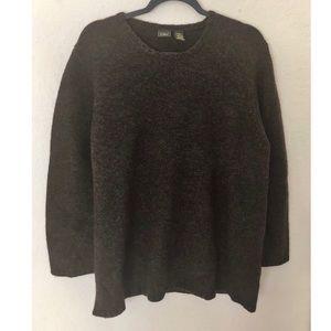 L.L. Bean Brown Wool & Angora Blend 1X Sweater